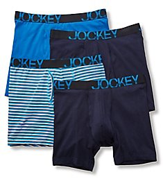 Jockey Active Stretch Midway Boxer Brief - 4 Pack 8586