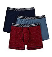 Jockey Active Micro Stretch Boxer Briefs - 3 Pack 9021