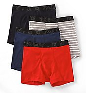 Jockey Active Blend Full Cut Cotton Boxers - 4 Pack 9040