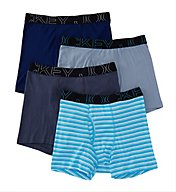 Jockey Active Blend Full Cut Cotton Boxer Briefs - 4 Pack 9040