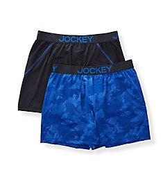 Jockey Microfiber Stretch No Bunch Boxers - 2 Pack 9047