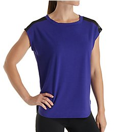 Jockey Illusion Mesh Insert Workout Tee 9348