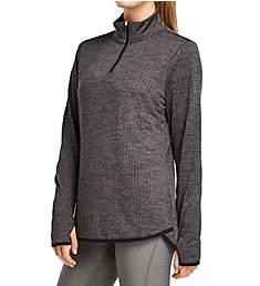 Jockey Circle Back 1/4 Zip Textured Fleece Pullover Top 9764
