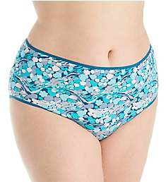 Just My Size Cool Comfort Cotton Stretch Brief Panty - 5 Pack 1710C5