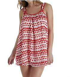 Kate Spade New York Hearts Crinkle Chiffon Chemise and Panty Set 5021473
