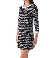 kate spade new york Long Sleeve Sleepshirt With Matching Eye Mask 5031268