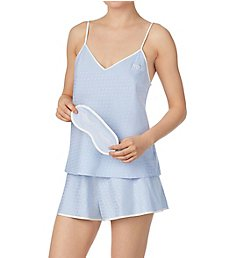 Kate Spade New York Bridal Satin Short PJ Set with Matching Eyemask KS71774