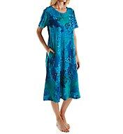 La Cera Short Sleeve Cotton Knit Dress with Pockets 2523