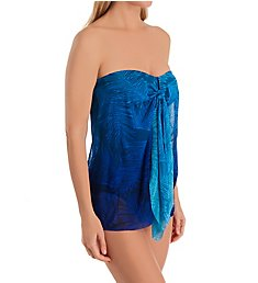 Lauren Ralph Lauren Ombre Palm Flyaway Strapless One Piece Swimsuit LR0FP03