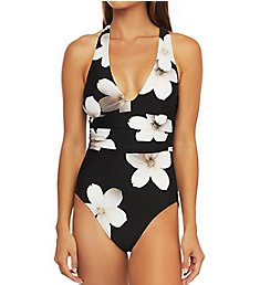 Lauren Ralph Lauren Villa Floral Twist Back Halter One Piece Swimsuit LR0HQ09