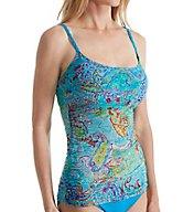 Lauren Ralph Lauren Maharaja Paisley Lingerie Strap Tankini Swim Top LR6GS82