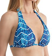 Lauren Ralph Lauren Herringbone Molded Cup Slider Swim Top LR6GW87