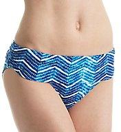 Lauren Ralph Lauren Herringbone Shirred Band Hipster Swim Bottom LR6GW96