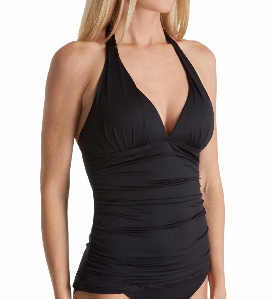 Lauren Ralph Lauren Beach Club Slimming Halter Tankini Swim Top LR7DB82