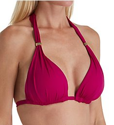 Lauren Ralph Lauren Beach Club Halter Bikini Swim Top LR7DB87