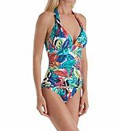 Lauren Ralph Lauren Rainforest Halter Mio One Piece Swimsuit LR7DJ10