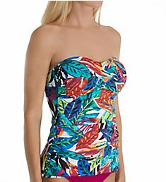 Lauren Ralph Lauren Rainforest Multiway Twist Tankini Swim Top LR7DJ85