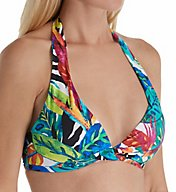 Lauren Ralph Lauren Rainforest Halter Bikini Swim Top LR7DJ87