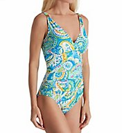 Lauren Ralph Lauren Carnivale Paisley Underwire Mio One Piece Swimsuit LR7DV07