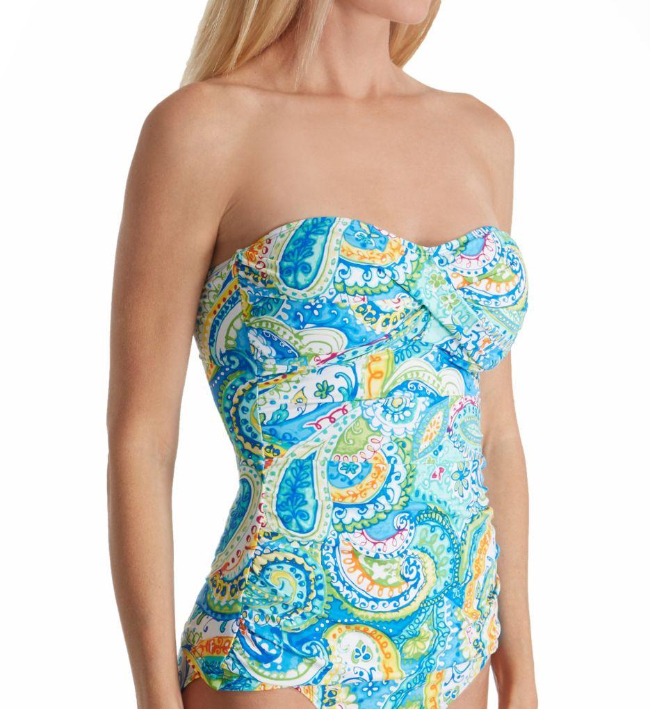 Lauren Ralph Lauren Carnivale Paisley Multiway Twist Tankini Swim Top LR7DV85