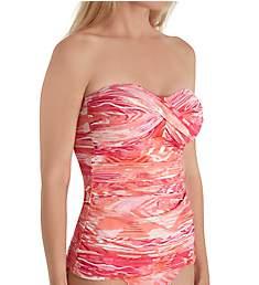 Lauren Ralph Lauren Calypso Ikat Twist Bandeau Tankini Swim Top LR80D85