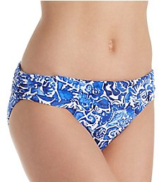 Lauren Ralph Lauren Playa Floral Classic Shirred Hipster Swim Bottom LR8FN95