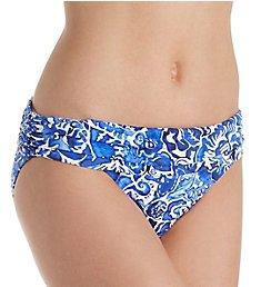 Lauren Ralph Lauren Playa Floral Classic Shirred Hipster Swim Bottom LR8FN95