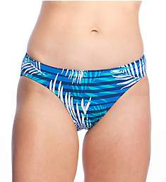 Lauren Ralph Lauren Palm Stripe Print Hipster Swim Bottom LR9GK93
