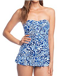 Lauren Ralph Lauren Bias Tribal Ikat Underwire One Piece Swim Dress LR9GN12