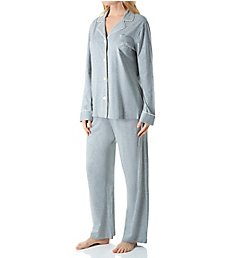 Lauren Ralph Lauren Sleepwear Hammond Knits Long Sleeve Notch Collar PJ Set 819950