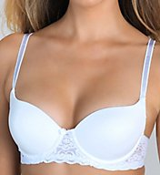 Lily Of France Smooth Cup Lace Overlay Convertible Bra 2111541