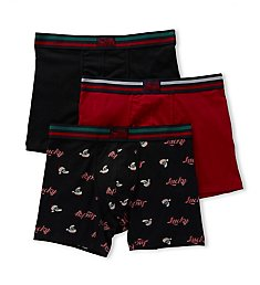 Lucky Holiday Cotton Stretch Boxer Briefs - 3 Pack 173UG01