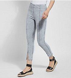 Lysse Leggings Evelyn Split Denim Crop Shaping Legging 2445