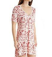 Maidenform Floral Bloom Lace Trim Sleepshirt MFS7310