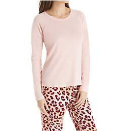 Maidenform Holiday Rib Shirt and Fleece Pant Pajama Set MFW7880