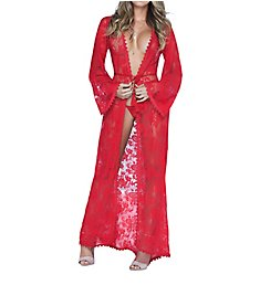 Mapale Long Lace Robe with G-String Set 7116