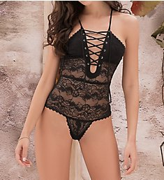 Mapale Lace Up Lace Teddy 8305