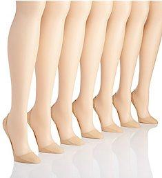 MeMoi Cotton Blend Stiletto Liner Socks - 7 Pack MP-056