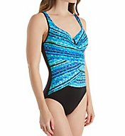Miraclesuit Night Lights Layered Escape UW One Piece Swimsuit 6501466