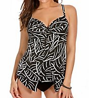 Miraclesuit Hard to be Leaf Love Knot Wired Tankini Swim Top 6501647