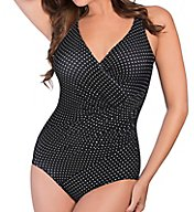 Miraclesuit Pin Point Oceanus Soft Cup One Piece Swimsuit 6502688