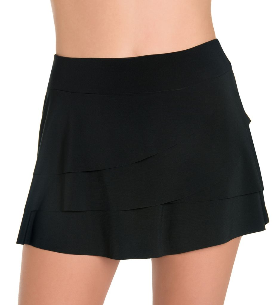 Miraclesuit Solid Basic Layered Ruffle Skirt Swim Bottom 6503010