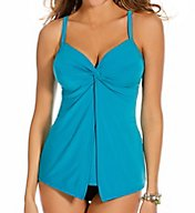 Miraclesuit Solid Love Knot Underwire Tankini Swim Top 6503047
