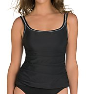 Miraclesuit Silver Streak Avalon Wireless Tankini Swim Top 6503157