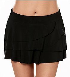 Miraclesuit Solid Layered Ruffle Skirted Brief Swim Bottom 6516610