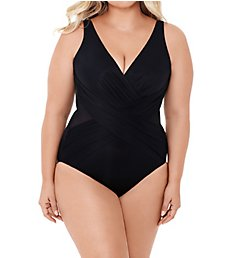 Miraclesuit Plus Size Crossover One Piece Swimsuit 6519089