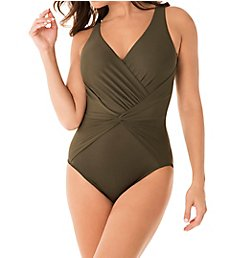 Miraclesuit Rock Solid Twister Wireless One Piece Swimsuit 6523048