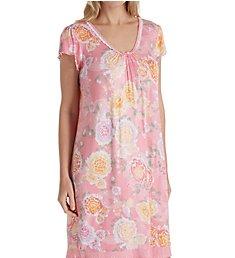 Miss Elaine Liquidknit Flutter Sleeve Short Gown 207827