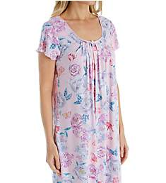 Miss Elaine Sofiknit Spring Floral Short Gown 208447