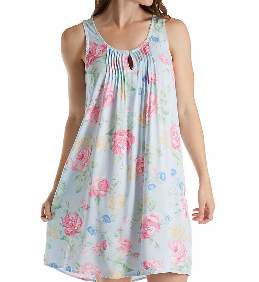 Miss Elaine Printed Woven Rayon Chemise 224767